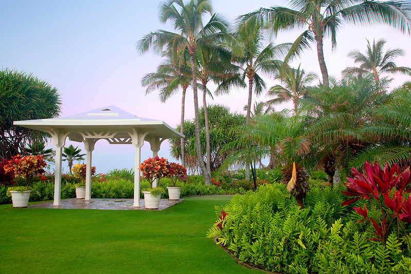 Gazebo at Grand Hyatt. Kauai, Hawaii.