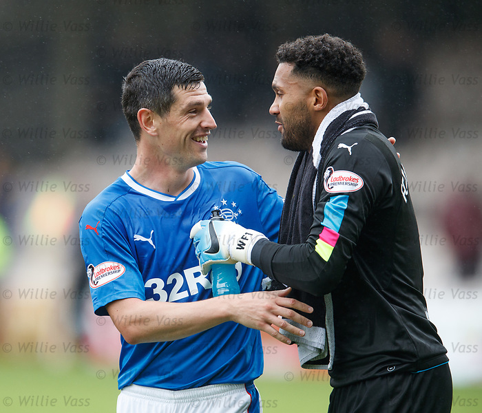 Graham Dorrans and Wes Foderingham at full time