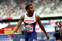 David Omoregie of Great Britain after competing in the menís 110 metres hurdles  during the Muller Anniversary Games at The London Stadium on 9th July 2017