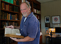 NWA Democrat-Gazette/DAVID GOTTSCHALK - 1/16/15 - Christopher Liner, president of the Society of Exploration Geophysicists (worldwide) and Maurice F. Storm Chair in Petroleum Geology in the Fulbright College at the University of Arkansas, at his home in Fayetteville Friday January 16, 2015.