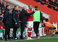 Lee Bowyer manager of Charlton Athletic gives Darren Pratley of Charlton Athletic instructions during Charlton Athletic vs Sheffield Wednesday, Sky Bet EFL Championship Football at The Valley on 30th November 2019