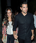 June 26th 2012 Jesse MetCalfe leaving Beso Resataurant in Hollywood holding hands with Cara Santana AbilityFilms@yahoo.com805-427-3519www.AbilityFilms.com