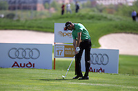 Charl Schwartzel takes his tee shot on the 17th hole in the 3rd Round of the Open de Espana in Madrid...Photo NEWSFILE/Manus O'Reilly.(Photo credit should read Manus O'Reilly/NEWSFILE)....This Picture has been sent you under the condtions enclosed by:.Newsfile Ltd..The Studio,.Millmount Abbey,.Drogheda,.Co Meath..Ireland..Tel: +353(0)41-9871240.Fax: +353(0)41-9871260.GSM: +353(0)86-2500958.email: pictures@newsfile.ie.www.newsfile.ie.FTP: 193.120.102.198..