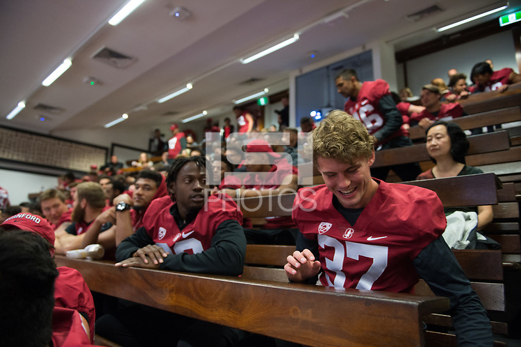 Sydney, Australia - August 22, 2017: The Stanford Cardinal experiences Sydney in the lead up to the 2017 Sydney Cup versus the Rice Owls.