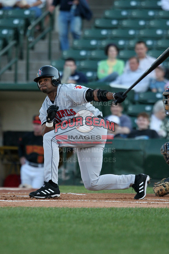 Indianapolis Indians Rajai Davis during an International League game at Frontier Field on June 14, 2006 in Rochester, New York.  (Mike Janes/Four Seam Images)