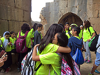 3. &quot;Druze Children Embrace&quot;:  Nimrod Fortress, Golan Heights.<br />