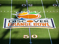 January 3, 2014 - Miami Gardens, Florida, U.S:  before the Discover Orange Bowl game between the Clemson Tigers and the Ohio State Buckeyes at Sun Life Stadium in Miami Gardens, Fl