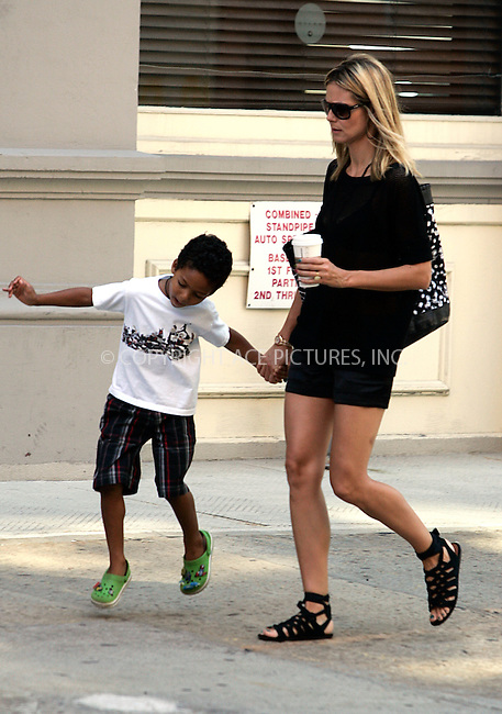 WWW.ACEPIXS.COM . . . . .  ....July 15 2011, New York City....TV personality Heidi Klum out with Johan in Soho on July 15 2011 in New York City....Please byline: CURTIS MEANS - ACE PICTURES.... *** ***..Ace Pictures, Inc:  ..Philip Vaughan (212) 243-8787 or (646) 679 0430..e-mail: info@acepixs.com..web: http://www.acepixs.com