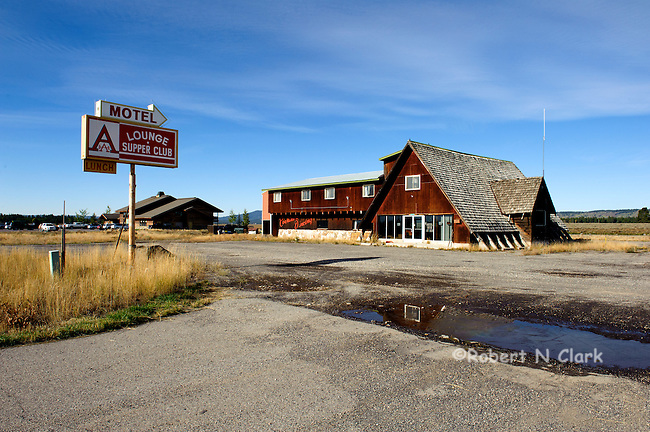 "The famous old ""A Bar"" on the banks of the Henry's Fork of the Snake River at Last Chance"