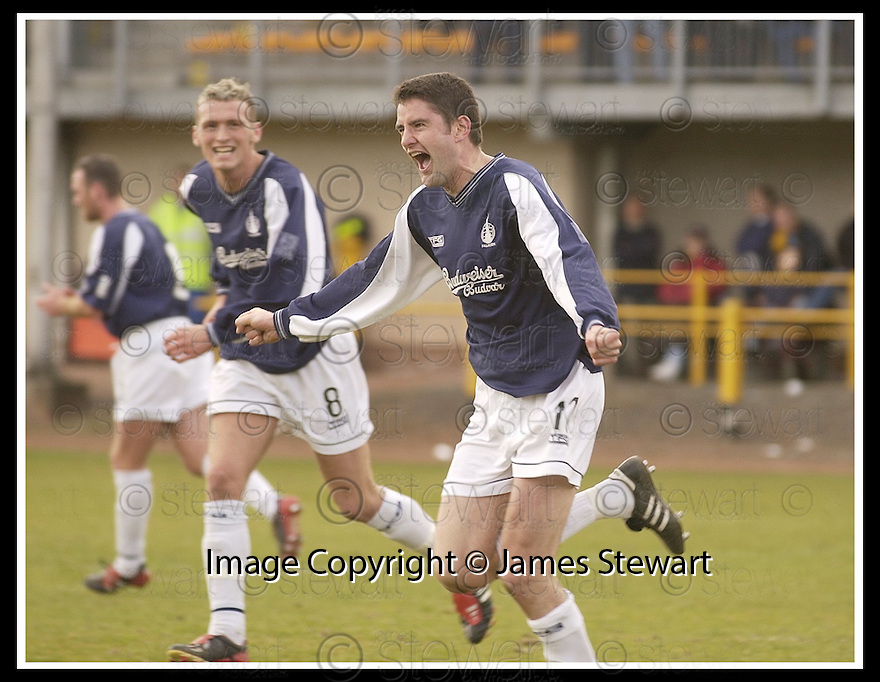 29/03/2003                   Copright Pic : James Stewart.File Name : stewart-alloa v falkirk 08.STUART TAYLOR CELEBRATES AFTER SC ORING FALKIRK'S THIRD.....James Stewart Photo Agency, 19 Carronlea Drive, Falkirk. FK2 8DN      Vat Reg No. 607 6932 25.Office     : +44 (0)1324 570906     .Mobile  : +44 (0)7721 416997.Fax         :  +44 (0)1324 570906.E-mail  :  jim@jspa.co.uk.If you require further information then contact Jim Stewart on any of the numbers above.........