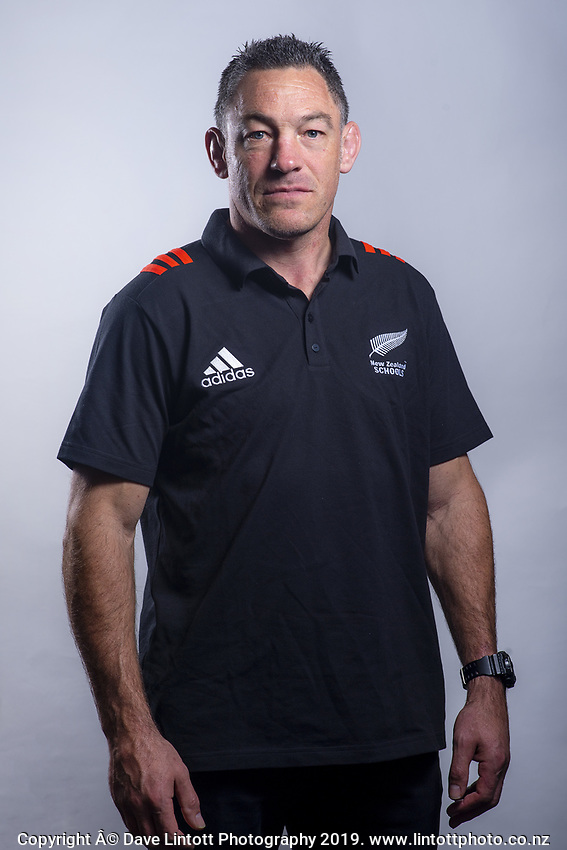 Head coach Mark Hammett. 2019 New Zealand Schools rugby union headshots at the Sport & Rugby Institute in Palmerston North, New Zealand on Wednesday, 25 September 2019. Photo: Dave Lintott / lintottphoto.co.nz
