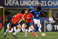 Igor Zubeldia of Spain  , Moise Kean of Italy <br /> Bologna 16-06-2019 Stadio Renato Dall'Ara <br /> Football UEFA Under 21 Championship Italy 2019<br /> Group Stage - Final Tournament Group A<br /> Italy - Spain <br /> Photo Andrea Staccioli / Insidefoto