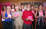 Laura Shoop, Jenifer Foote, Alison Cimmet, Sheldon Harnick, Joe Masteroff, Nicholas Barasch, Michael Fatica and Laura Benanti attends the CD release signing for the Broadway revival of 'She Loves Me' at Barnes and Noble 86th street on August 3, 2016 in New York City.