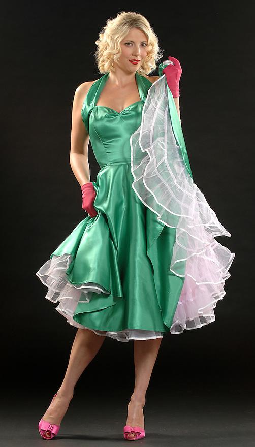 """Fratelli Fashion""..Burlesque dancer Heather Fratelli, wife of band member John Fratelli.."
