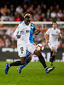17th March 2019, Mestalla Stadium, Valencia, Spain; La Liga football, Valencia versus Getafe; Mouctar Diakhaby of Valencia CF Dchallenges with Jorge Molina of Getafe