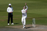 Simon Harmer in bowling action for Essex during Lancashire CCC vs Essex CCC, Specsavers County Championship Division 1 Cricket at Emirates Old Trafford on 11th June 2018