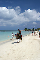 Horseback riding is just one activity offered on Roatan's West Bay beach.