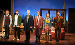 Jacob Fishel, Josh Cooke, Tim McGreever, Lucas Near-Verbrugghe, Kristen Bush & Kieran Campion.during the Opening Night Curtain Call for The Roundabout Theatre Company's Off-Broadway Production of 'The Common Pursuit' at the Laura Pels Theatre  in New York City on 5/24/2012