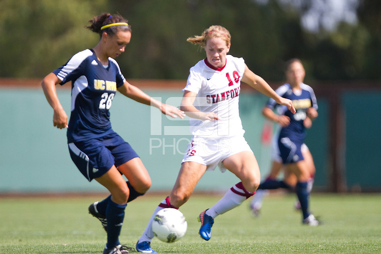 STANFORD, CA - September 11, 2011:  Sidney Payne plays defense during Stanford's 2-0 win over UC Irvine in Stanford, California on September 11, 2011.