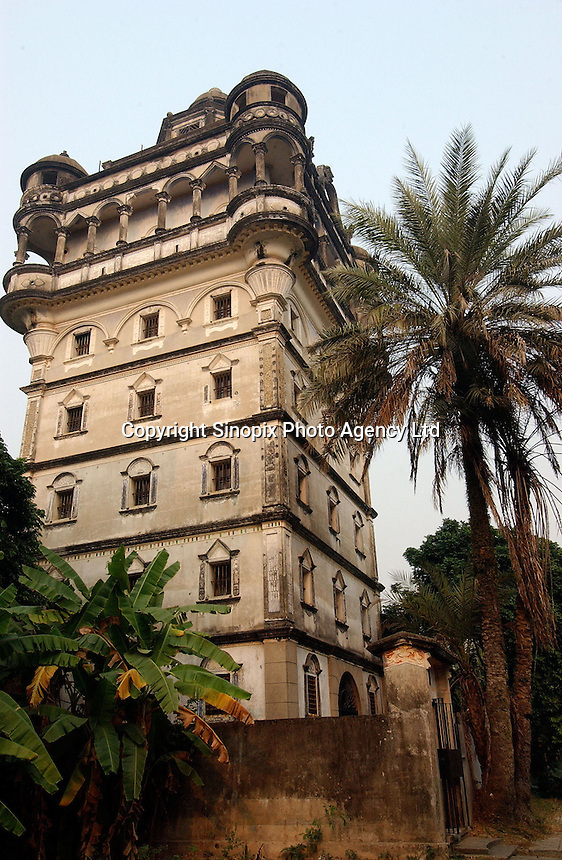 "A European ""tower"" in Jiu Jiang Li town near Kaiping city in Guangdong Province, China. The European style ""towers"" were built by by overseas Chinese returning with architectural ideas from America and Europe. ."