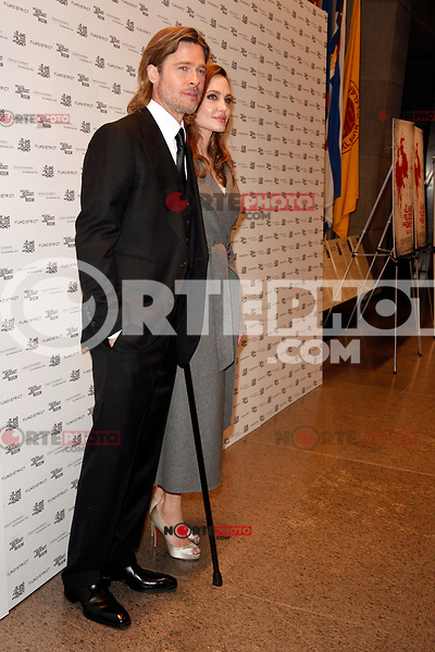 Brad Pitt and Angelina Jolie at the 'In the Land of Blood and Honey' premiere at the United States Holocaust Memorial Museum on January 10, 2012 in Washington, DC. © Star Shooter/MediaPunch Inc.