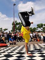 Streetdance tijdens het Streetmasters  evenement in Amsterdam