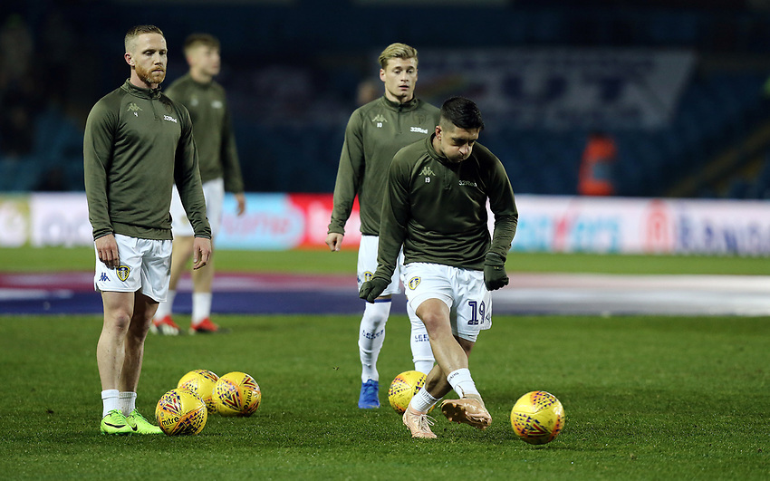 Leeds United's Pablo Hernandez during the pre-match warm-up <br /> <br /> Photographer Rich Linley/CameraSport<br /> <br /> The EFL Sky Bet Championship - Leeds United v Reading - Tuesday 27th November 2018 - Elland Road - Leeds<br /> <br /> World Copyright © 2018 CameraSport. All rights reserved. 43 Linden Ave. Countesthorpe. Leicester. England. LE8 5PG - Tel: +44 (0) 116 277 4147 - admin@camerasport.com - www.camerasport.com
