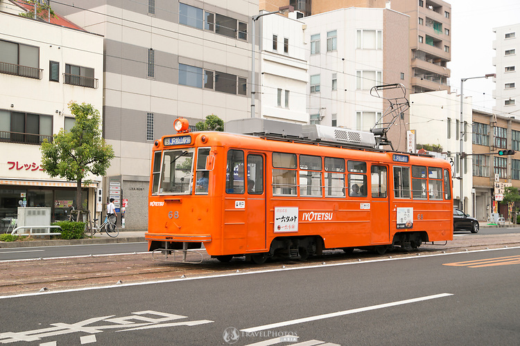 Scenes of Matsuyama city in Shikoku, Japan.