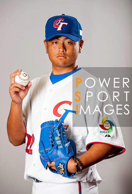 Wang, Yao-Lin of Team Chinese Taipei poses during WBC Photo Day on February 25, 2013 in Taichung, Taiwan. Photo by Victor Fraile / The Power of Sport Images