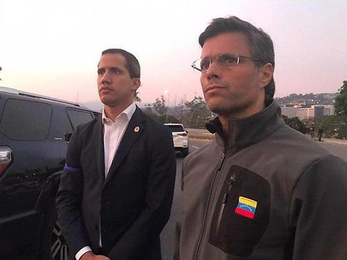 Juan Guaidó y Lepoldo López