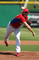 Philadelphia Phillies Drew Naylor #64 during a scrimmage vs the Florida State Seminoles  at Bright House Field in Clearwater, Florida;  February 24, 2011.  Philadelphia defeated Florida State 8-0.  Photo By Mike Janes/Four Seam Images