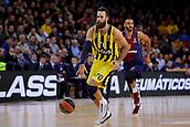 8th December 2017, Palau Blaugrana, Barcelona, Spain; Turkish Airlines Euroleague Basketball, FC Barcelona Lassa versus Fenerbahce Dogus Istanbul; Luigi Da Tome of Fenerbahce Dogus istanbul in action