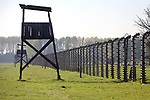 Wieza straznicza w Auschwitz II-Birkenau<br /> Guard tower in Auschwitz II-Birkenau, Poland