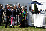 Stamford, Lincolnshire, United Kingdom, 8th September 2019, HRH The Countess of Wessex meeting the New Zealand High Commissioner during a visit to the 2019 Land Rover Burghley Horse Trials, Credit: Jonathan Clarke/JPC Images