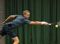 Rotterdam, The Netherlands, 15.03.2014. NOJK 14 and 18 years ,National Indoor Juniors Championships of 2014, Tom Moonen (NED)<br /> Photo:Tennisimages/Henk Koster