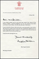 Touching Princess Diana letters.