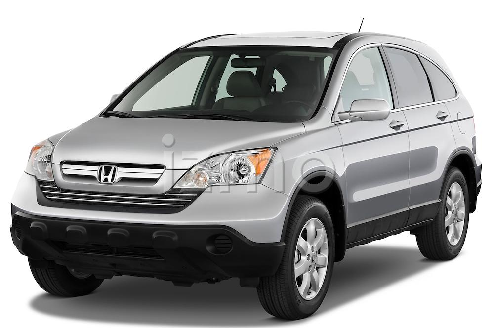 Front three quarter view of a 2008 Honda CRV.