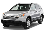 Front three quarter view of a 2008 Honda CRV.
