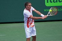 KEY BISCAYNE, FL - MARCH 25: Alexandr Dolgopolov competes during Day 7 of the Sony Ericsson Open in Miami on March 25th, 2012 in Key Biscayne, FL. ( Photo by Chaz Niell/Media Punch Inc.)