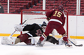 Ian Milosz (BC - 29), JD Dudek (BC - 15) - The Boston College Eagles practiced on the rink at Fenway Park on Friday, January 6, 2017.