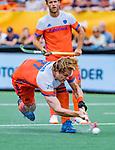 Den Bosch  -  Jip Janssen (Ned) scoort uit een strafcorner    tijdens   de Pro League hockeywedstrijd heren, Nederland-Belgie (4-3).    COPYRIGHT KOEN SUYK