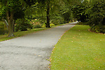 Walking path through Christchurch Botanic Gardens, Christchurch, New Zealand