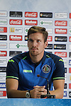 Balazs Megyeri during his presentation as new Getafe´s `player in Madrid, Spain. July 16, 2015. (ALTERPHOTOS/Victor Blanco)