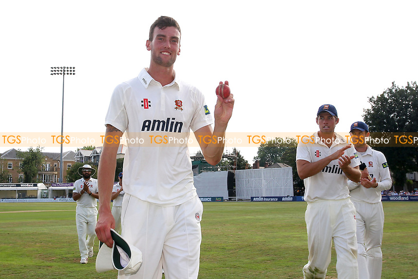 Reece Topley of Essex holds up the ball to celebrate a six wicket haul - Essex CCC vs Worcestershire CCC - LV County Championship Division Two Cricket at the Essex County Ground, Chelmsford, Essex - 03/09/13 - MANDATORY CREDIT: Gavin Ellis/TGSPHOTO - Self billing applies where appropriate - 0845 094 6026 - contact@tgsphoto.co.uk - NO UNPAID USE