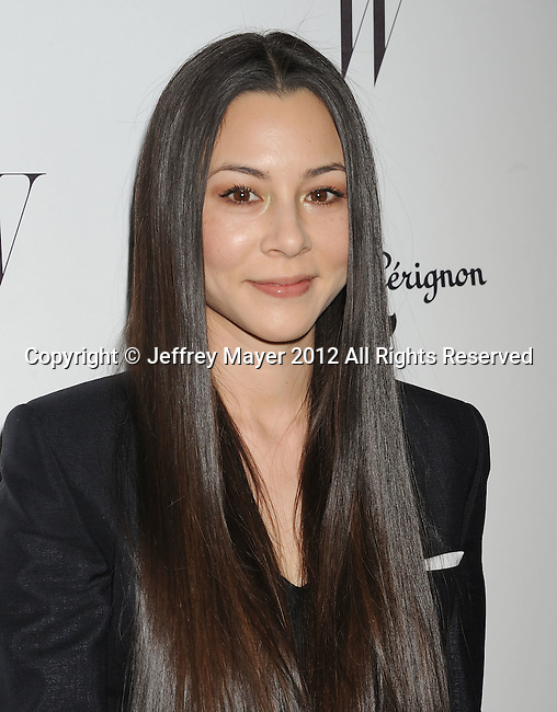 LOS ANGELES, CA - JANUARY 13: China Chow arrives at the W Magazine's celebration of the 69th Annual Golden Globe Awards at the Chateau Marmont Hotel on January 13, 2012 in Los Angeles, California.