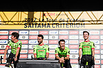 Cannondale Drapac team are introduced to the crowd before the Tour de France Saitama Crit&eacute;rium 2017 held around the streets os Saitama, Japan. 3rd November 2017.<br /> Picture: ASO/Pauline Ballet | Cyclefile<br /> <br /> <br /> All photos usage must carry mandatory copyright credit (&copy; Cyclefile | ASO/Pauline Ballet)