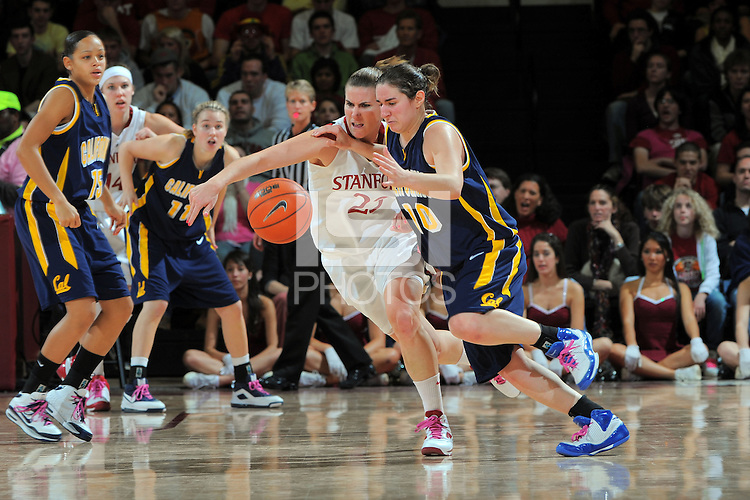 STANFORD, CA - FEBRUARY 14:  Guard Jeanette Pohlen #23 of the Stanford Cardinal during Stanford's 58-41 win against the California Golden Bears on February 14, 2009 at Maples Pavilion in Stanford, California.
