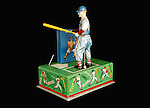 "Baseball Collection Home Run King"" Mechanical Tin Litho Wind-Up Toy"