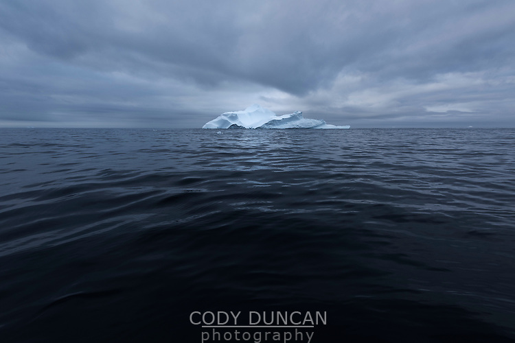 Iceberg in Denmark Straight near east coast of Greenland