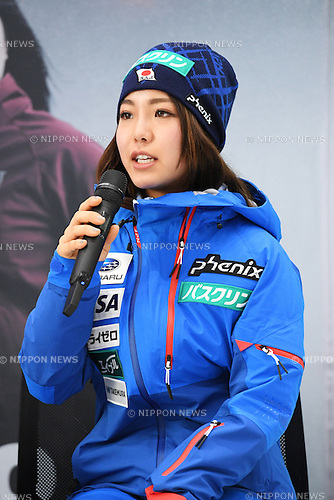 Sara Takanashi, <br /> NOVEMBER 1, 2016 - Skiing :<br /> 2016/2017 SAJ Team Japan TAKE OFF Press Conference<br /> at SUBARU STAR SQUARE, Tokyo, Japan.<br /> (Photo by AFLO SPORT)
